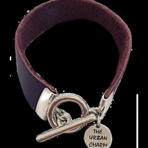 Purple Leather Color Band Bracelet