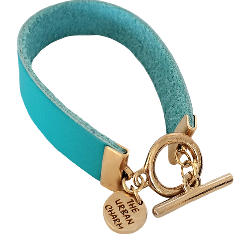 Turquoise Leather Color Band Bracelet