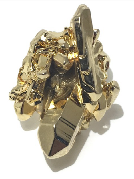 Gold Dipped Crystal Ring