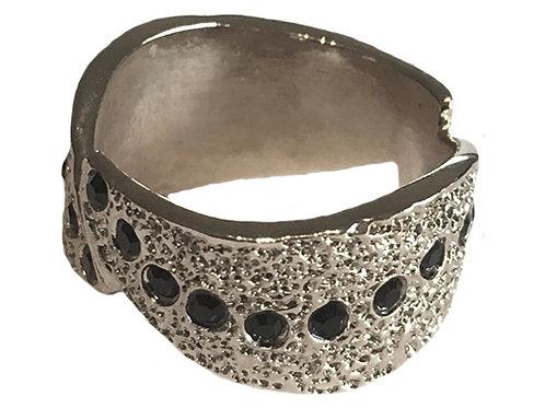 Silver Swarovski™ Crystal Sun Rays Ring