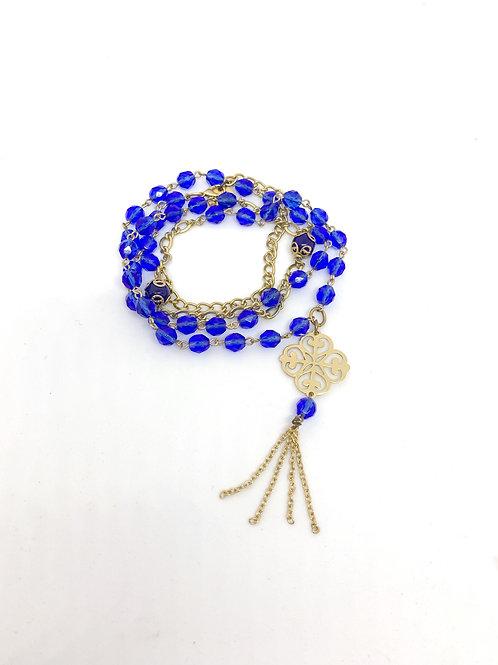 Blue Crystal Wrap Bracelet