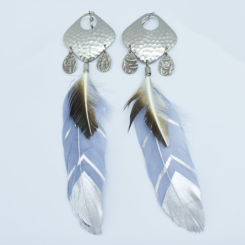 Lavender Feather Earrings