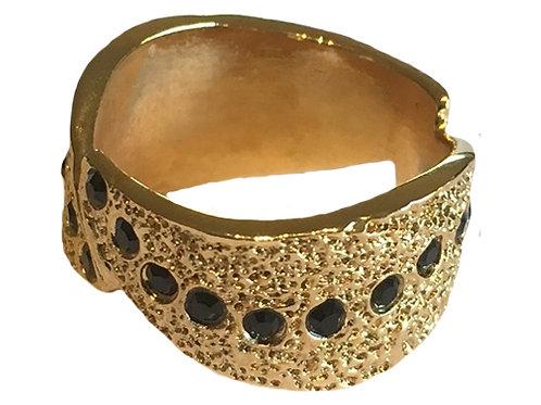 Gold Swarovski™ Crystal Sun Rays Ring