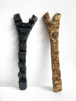 Dogon Ladders I and II  2020 Bronze