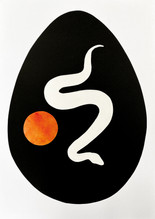 Serpent Egg II, 2020 Paper and acrylic collage on Bristol board paper, A3