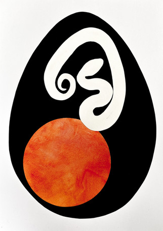 Serpent Egg III, 2020 Paper and acrylic collage on Bristol board paper, A3