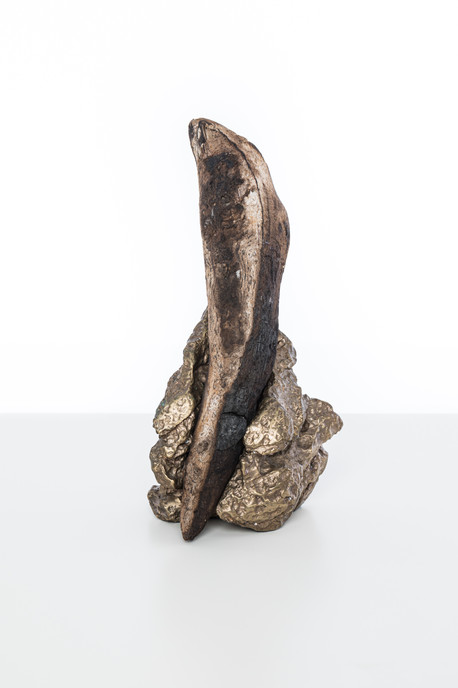 Our Hearts Condemn Us, 2019 Charred wood, bronze 18 x 10 x 10cm