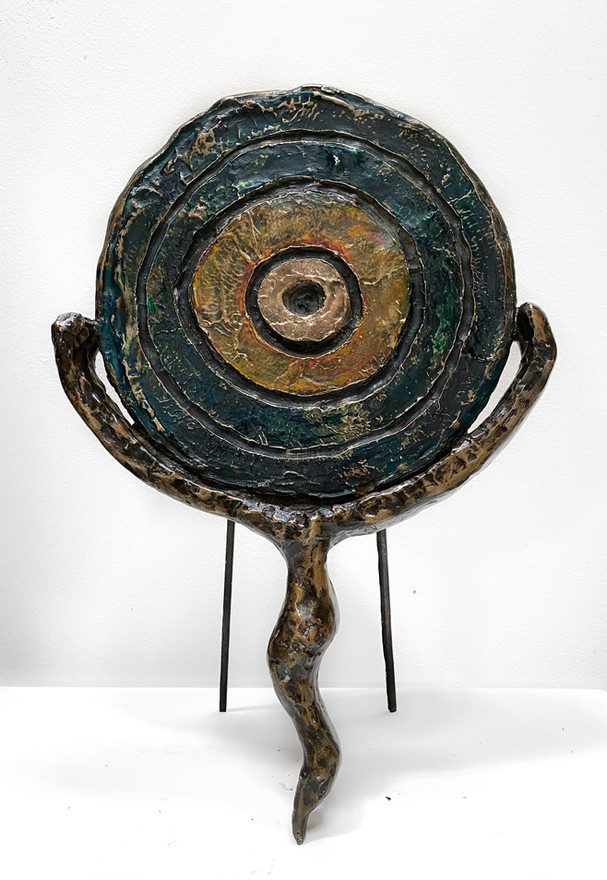 Antecedent I, 2020 Painted and patinated bronze 31.5 x 21 x 3 cm