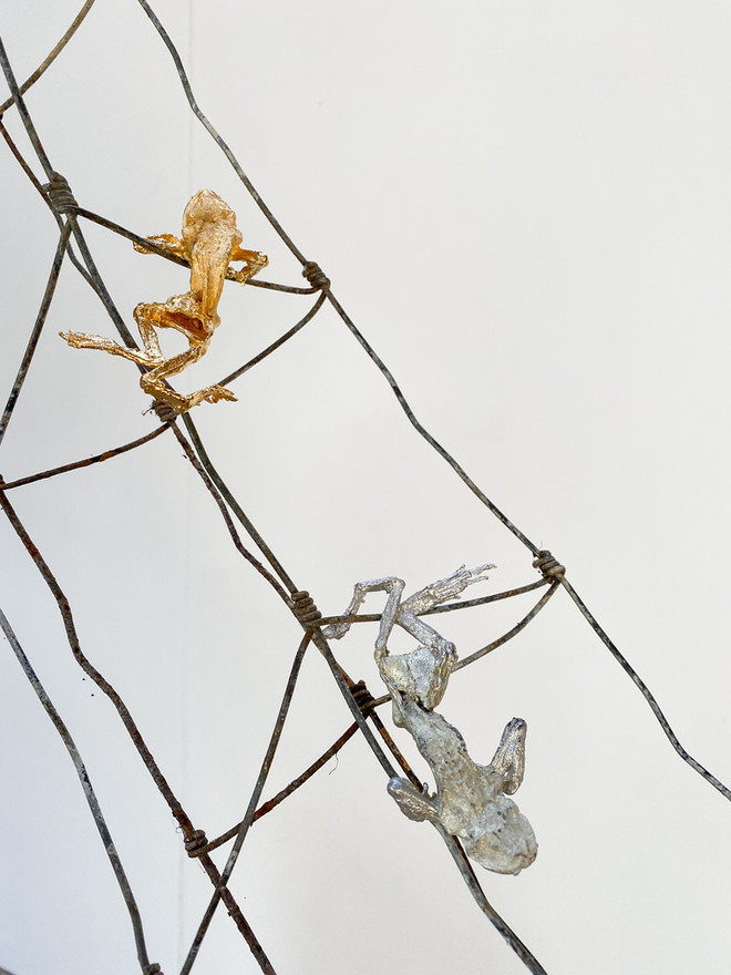 Ascension, 2020 Steel, tin, gold