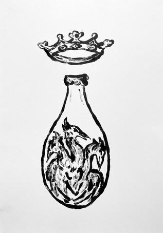 Vessel Study VI, 2020 Monotype on bristol board paper, A3