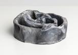 Chamber II,  2019 Smoke fired clay,  black copper oxide, salt 26 x 27 x 11cm