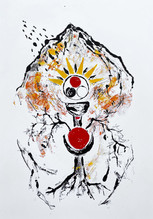 Red Queen, 2020 Monotype on bristol board paper, A2