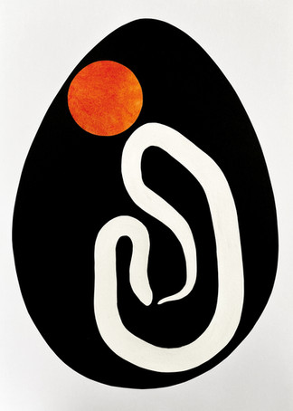 Serpent Egg IV, 2020 Paper and acrylic collage on Bristol board paper, A3