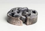 Chamber VI,  2021 Smoke fired clay,  black copper oxide, salt 26 x 27 x 11cm