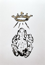Toad study II, 2020 Monotype on bristol board paper, A3