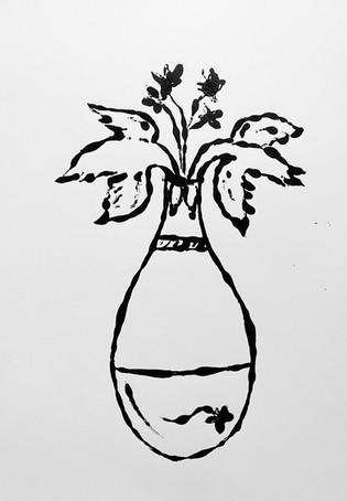 Vessel Study V, 2020 Monotype on bristol board paper, A3
