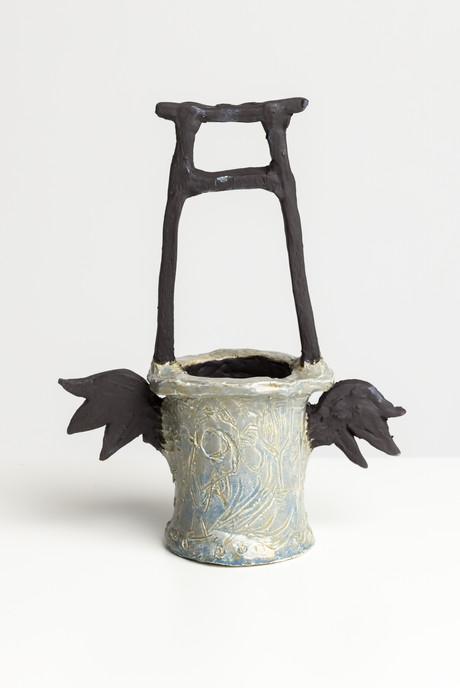 Untitled (Well study I), 2021, engobe and glazed ceramic