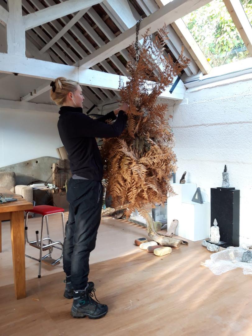Hollie Miller in Hogchester Arts Studio.