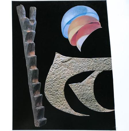 Ego Artifacts, 2018 Collage on Bristol board paper, 30cm x 30cm
