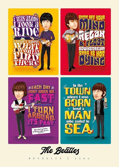 The Beatles 'Revolver' Art Print