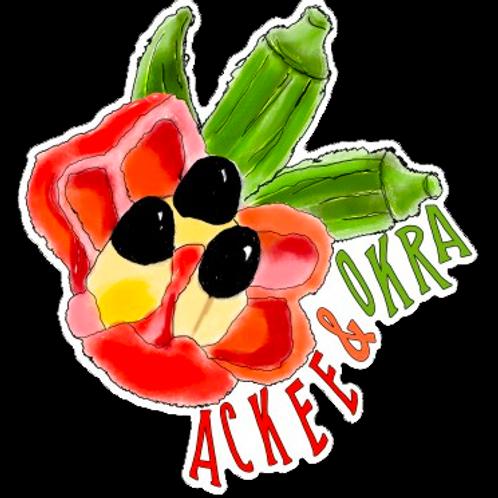 Ackee & Okra Sticker