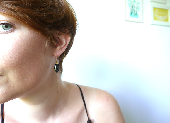 Boucles d'oreilles IRIS carbone