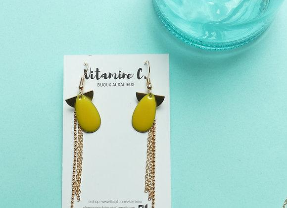 Boucles d'oreilles MADELEINE citron