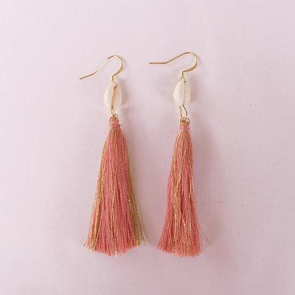 Boucles d'oreilles n°1 CALYPSO - rose