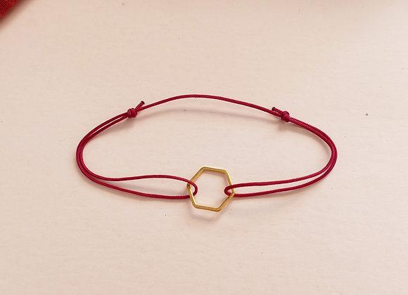 Bracelet INA - lie de vin