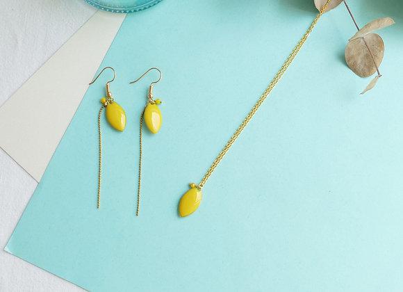 Boucles d'oreilles IRIS citron