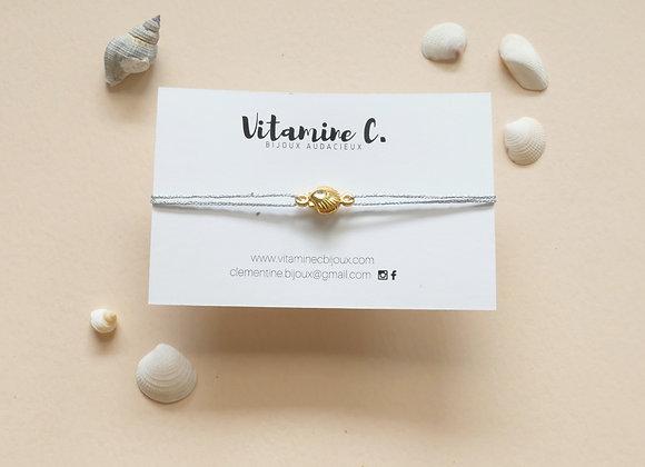 Bracelet cordon MARINA lurex argenté