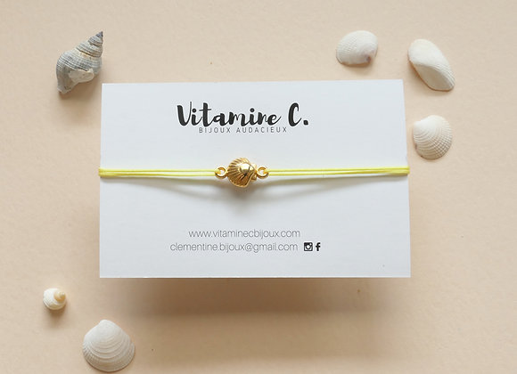Bracelet cordon MARINA jaune