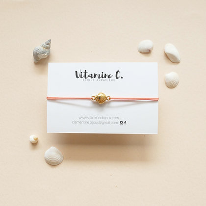 Bracelet cordon MARINA corail