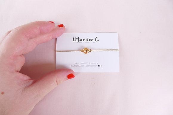 Bracelet cordon MARINA lurex doré
