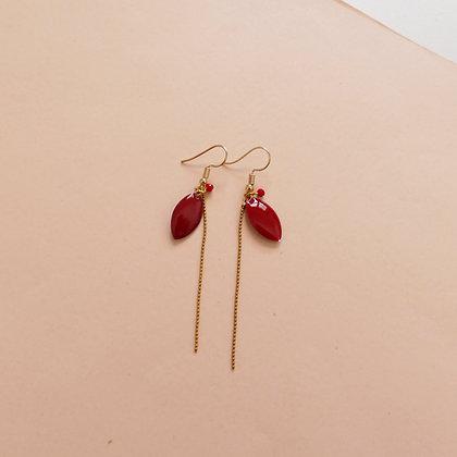 Boucles d'oreilles IRIS cherry