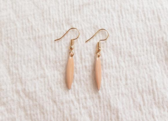 Boucles d'oreilles TEA rose poudré / doré