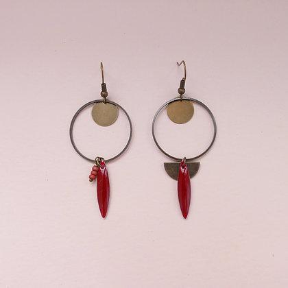 Boucles d'oreilles Amélie cherry