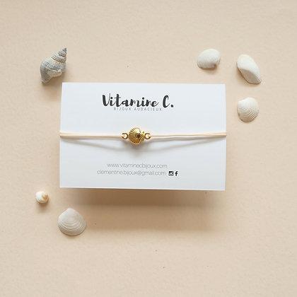 Bracelet cordon MARINA rose poudré