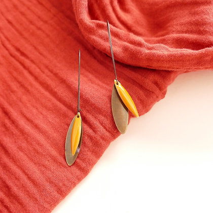 Boucles d'oreilles CHARLY curry