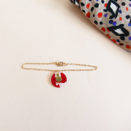Bracelet chaîne MATHILDE carmin