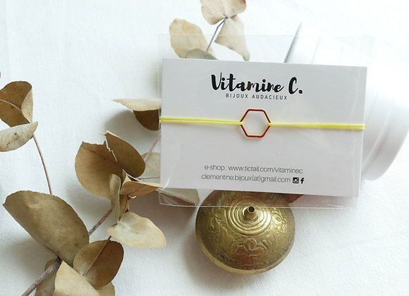 Bracelet INA - jaune