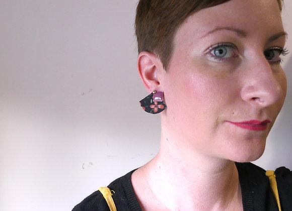 Boucles d'oreilles MARGAUX magenta