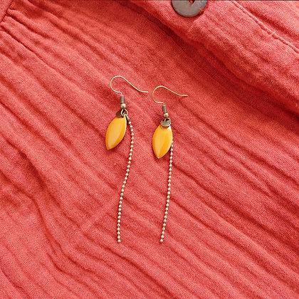 Boucles d'oreilles IRIS curry