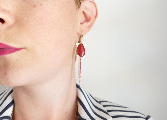 Boucles d'oreilles MADELEINE cherry