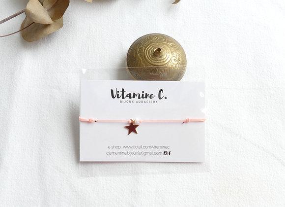Bracelet JEANNE - rose poudré