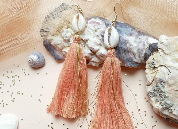 Boucles d'oreilles CALYPSO peach