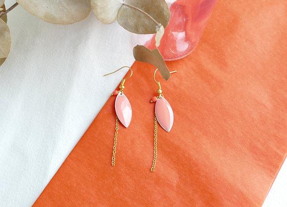 Boucles d'oreilles IRIS corail