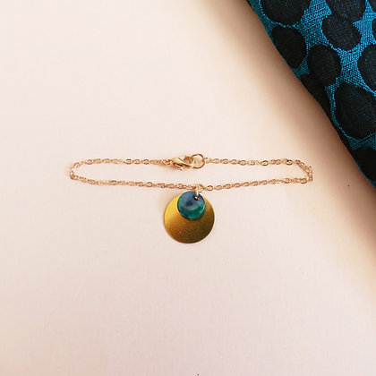 Bracelet chaîne MATHILDE émeraude