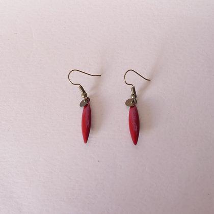 Boucles d'oreilles TEA cherry