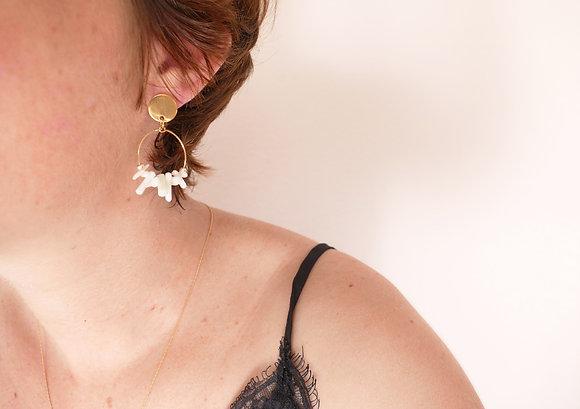 Boucles d'oreilles ALBA blanches